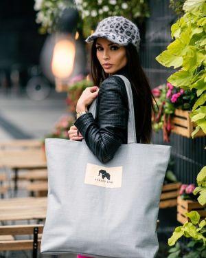 Szara torebka materiałowa miejska Merg