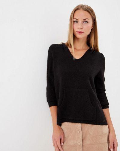 Черный пуловер S.oliver