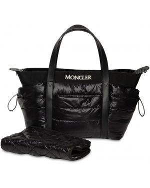Czarna torebka z nylonu Moncler