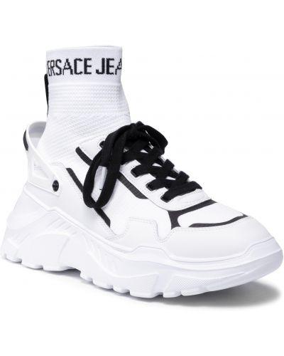 Białe półbuty Versace Jeans Couture