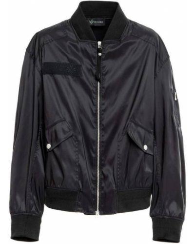 Czarna kurtka z nylonu Mr&mrs Italy