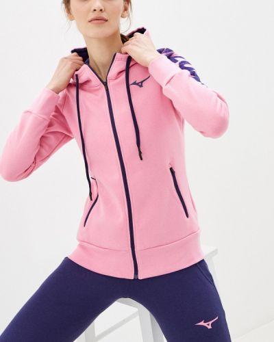 Розовая толстовка Mizuno