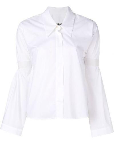 Рубашка белая с широкими рукавами Mm6 Maison Margiela