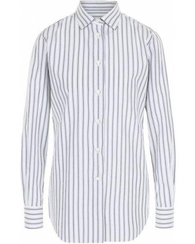 Блузка с длинным рукавом в полоску на пуговицах Loro Piana