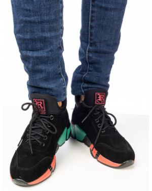 Текстильные черные кроссовки Prima D'arte