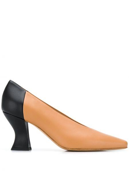 Туфли-лодочки черные бежевый Bottega Veneta