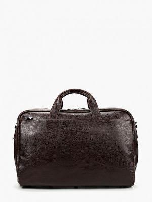 Дорожная сумка кожаная коричневый Antan