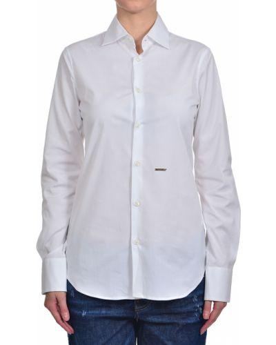 Хлопковая рубашка - белая Dsquared2
