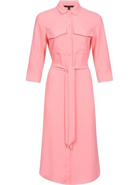 Платье с поясом - розовое Armani Exchange