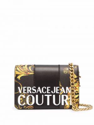 Джинсовая сумка через плечо - черная Versace Jeans Couture