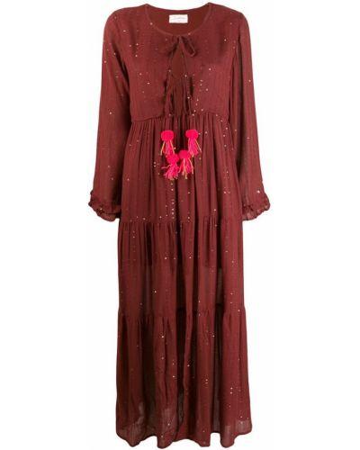 Платье макси бордовый платье-сарафан Sundress