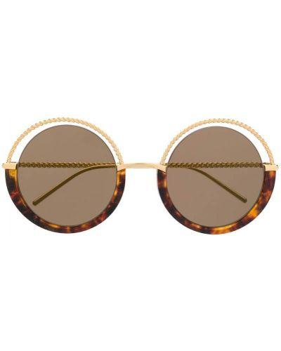 Муслиновые солнцезащитные очки хаки Boucheron Eyewear