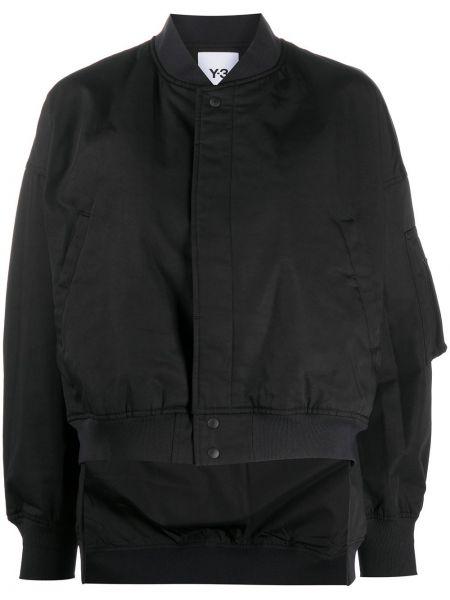 Хлопковый черный бомбер с карманами Y-3
