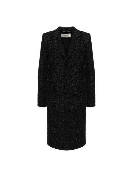 Длинное пальто джинсовое с воротником Saint Laurent