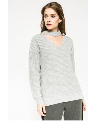 Вязаный свитер с V-образным вырезом свободного кроя Medicine