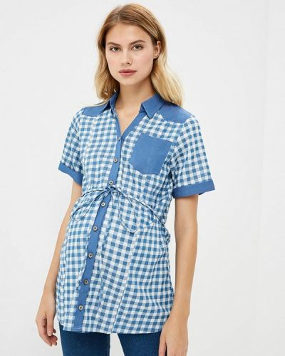 Рубашка с коротким рукавом - голубая 9месяцев 9дней