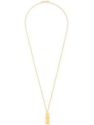 Naszyjnik metal złoto ze złota Northskull