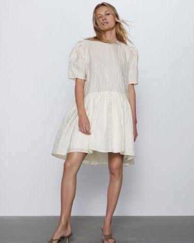 Платье мини оверсайз с камнями с вырезом Zara