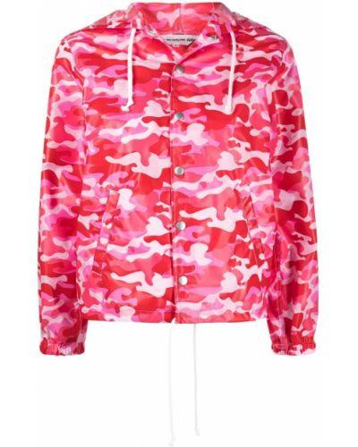 Розовая куртка с капюшоном на кнопках Comme Des Garçons Girl