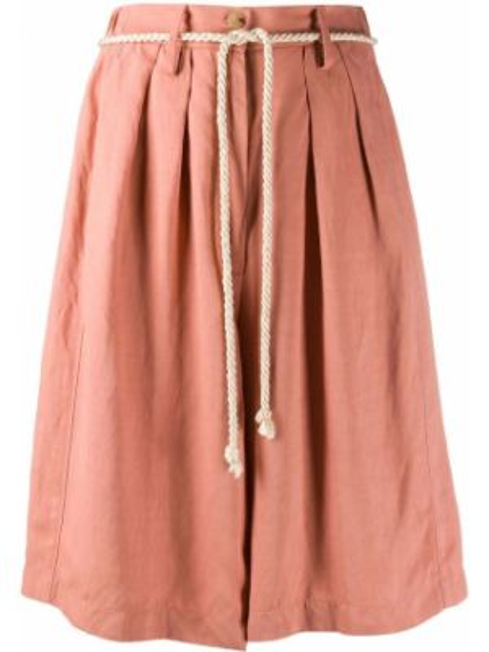 Розовые шорты с карманами на пуговицах Forte Forte