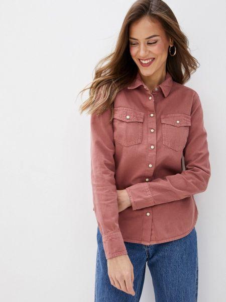 Розовая джинсовая рубашка с запахом Marks & Spencer