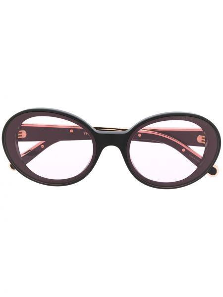 Прямые муслиновые черные солнцезащитные очки круглые Marc Jacobs Eyewear