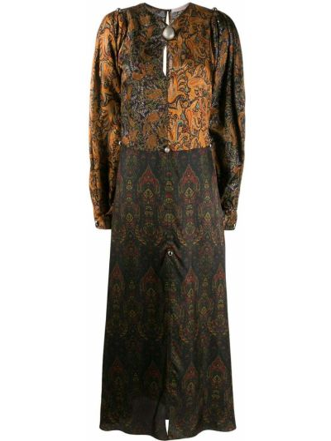 Sukienka długa srebrna - czarna Christopher Kane