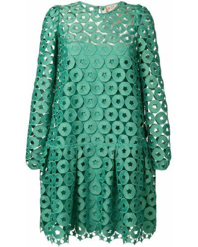 Платье на пуговицах с заниженной талией N21