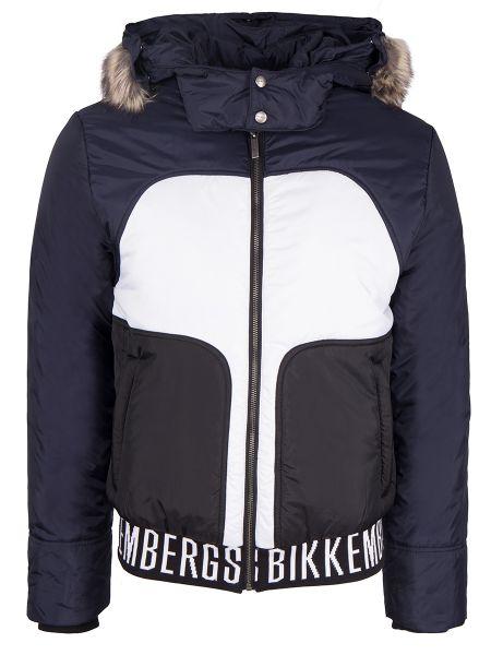 С рукавами синяя куртка на молнии Dirk Bikkembergs