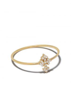 Chudy z rombem krzyż złoto z diamentem Feidt Paris