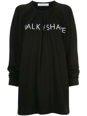 Черное плиссированное платье со складками с вырезом Walk Of Shame