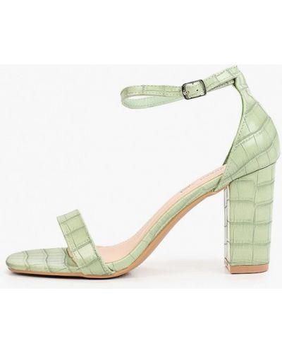 Зеленые кожаные босоножки Queen Vivi