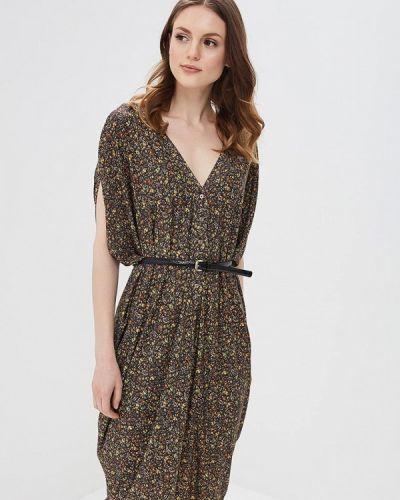 Коричневое прямое платье Ruxara