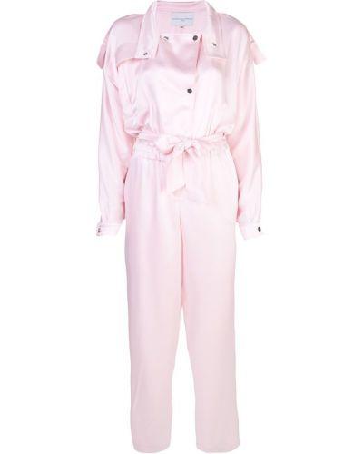 Розовый комбинезон на пуговицах свободного кроя Carolina Ritzler