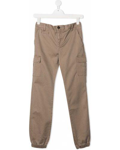 Брючные бежевые брюки карго с карманами Sun 68