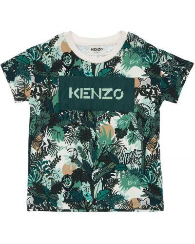 Лонгслив с принтом - белая Kenzo Kids