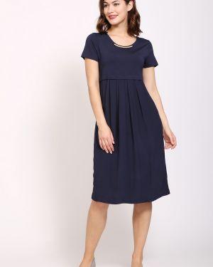 Синее платье из вискозы Pezzo
