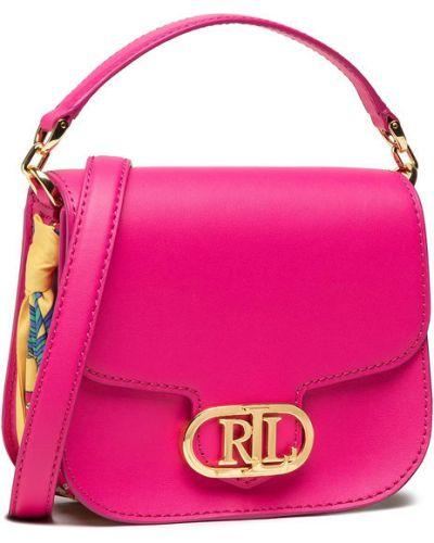 Różowa torebka crossbody Lauren Ralph Lauren