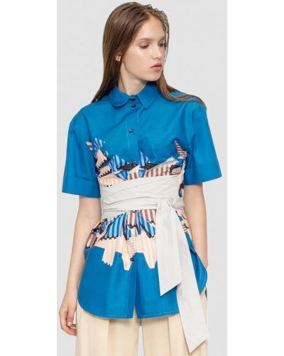 Синяя блузка осенняя Dolcedonna