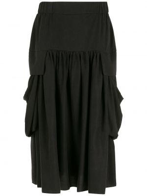 Юбка миди с карманами - черная Uma   Raquel Davidowicz