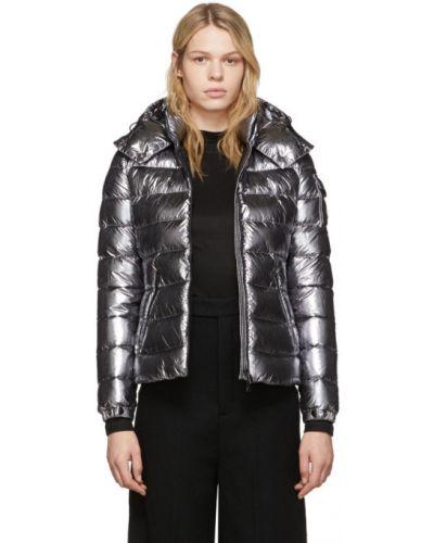 Куртка с капюшоном длинная стеганая Moncler