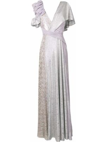 Вечернее платье короткое - фиолетовое Talbot Runhof