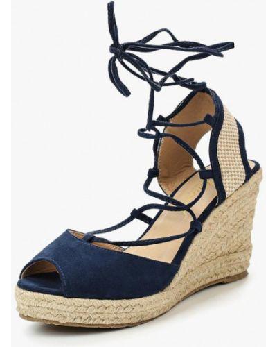 Синие босоножки на каблуке Mirambo