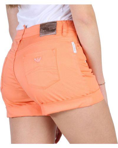 Szorty jeansowe - pomarańczowe Armani Jeans