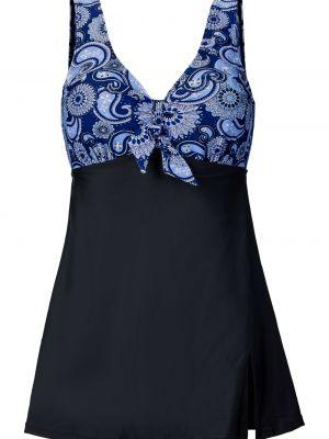 Пляжное черное купальное платье Bonprix
