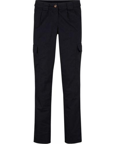 Зауженные модные черные классические брюки Bonprix