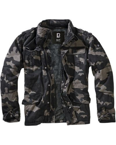 Кожаная куртка с капюшоном Brandit