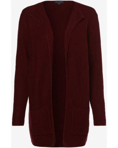 Czerwony garnitur elegancki dzianinowy Franco Callegari