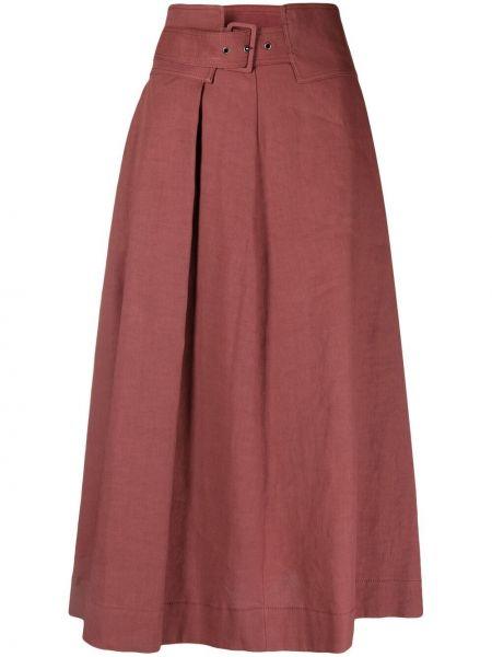 Расклешенная красная с завышенной талией юбка макси Fabiana Filippi
