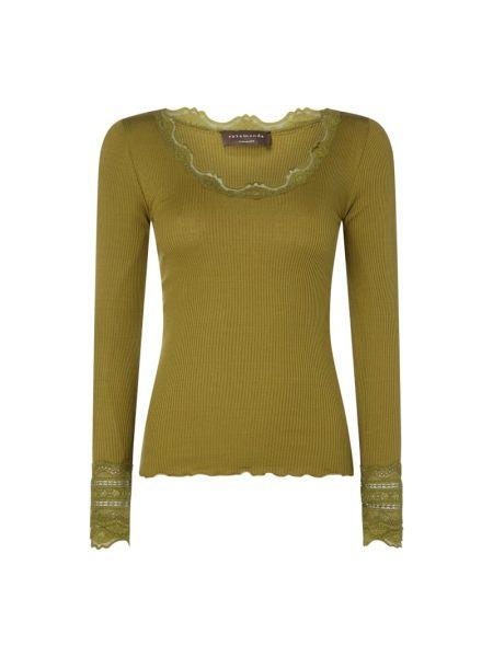 Zielona bluzka koronkowa bawełniana Rosemunde